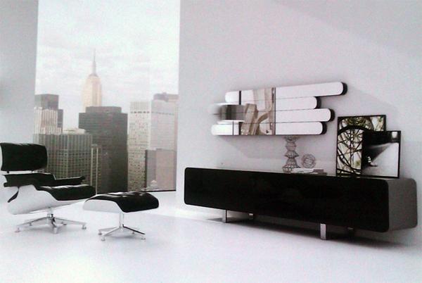 Composición salon modular 3 - Moderna  y llamativa composición de muebles de salón