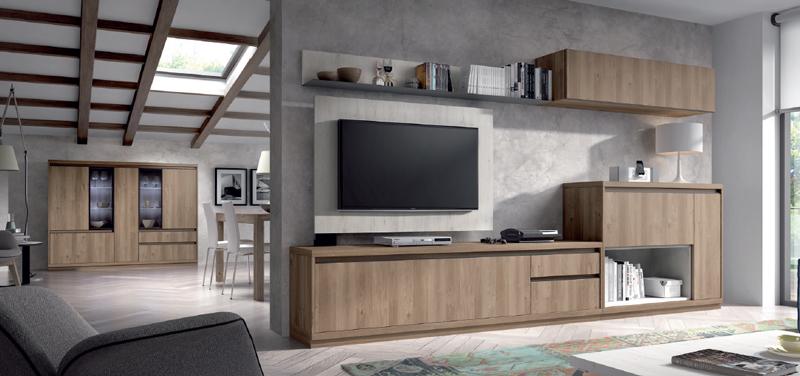 Salón moderno 2913 colección KAY - Muebles de salón 2913 colección KAY, Con estos paneles para la Televisión tan versátiles y funcionales así como robustos podemos ver la tele desde cualquier parte del salón
