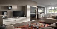 Salón moderno 2922 colección KAY - Muebles de salón 2922 colección KAY, Con los estantes de metal del catálogo KAY podemos compensar el equilibrio estético de nuestra composición de muebles del salón