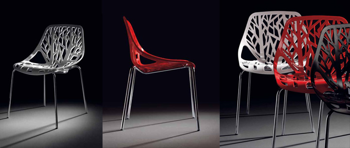 Sillas pl stico modernas for Modelos de sillas de metal