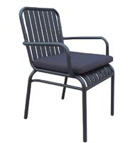 Sillón clásico para exterior - Sillón de aluminio  diseño clásico