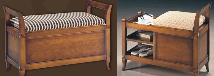 Banco de dormitorio bancos de dormitorios y pie de cama for Bancos para pie de cama
