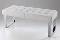 Banco pie de cama acolchado crudo