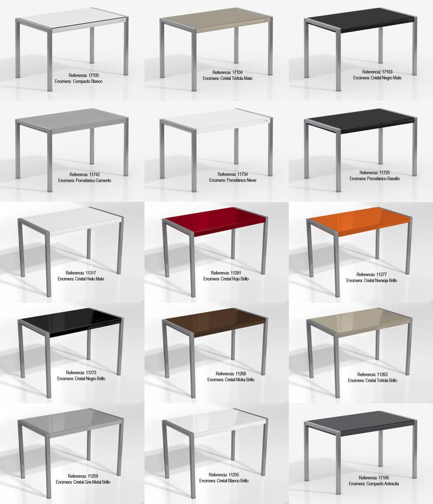 Mesas de cocina extensibles de colores for Mesa cocina extensible ikea