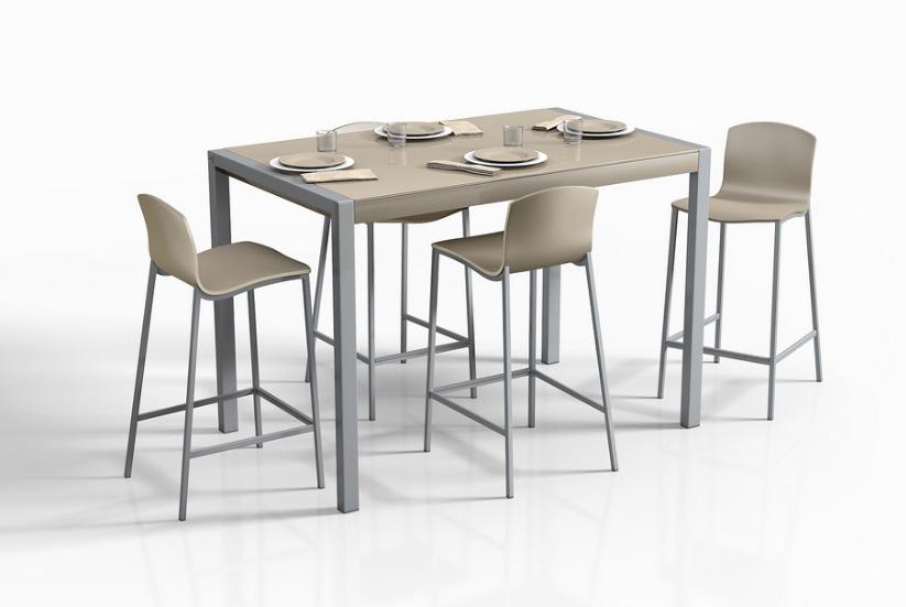 Mesas de cocina extensibles de colores for Mesas altas de cocina