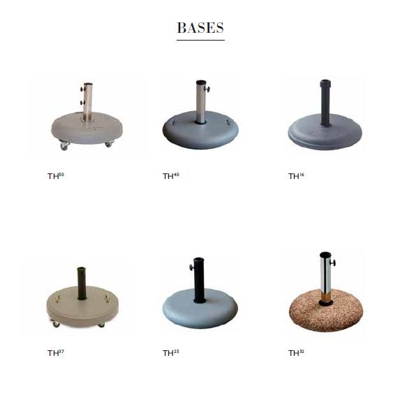 Bases para parasoles 2 - Bases para parasoles.