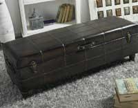 Baúl pie de cama marrón oscuro - Baúl pie de cama oscuro