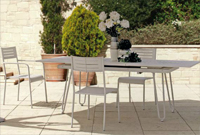 Comedor con estructura de hierro para jardín 5 - Mesa extensible y fija