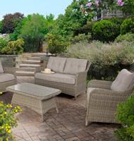 Set 4 de muebles sofá Derick - Set de 4 muebles sofá Derick para exteriores 1 Sofá, 2 sillones y 1 mesa de centro