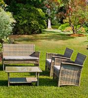 Set4 de muebles sofá Lutter - Set4 de muebles sofá Lutter 1 Sofá, 2 sillones y 1 mesa de centro