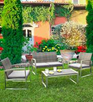 Set de muebles C-C NICOLAI - Set de muebles C-C NICOLAI / Incluye: 1 Sofa, 2 Sillónes y 1 mesa de centro
