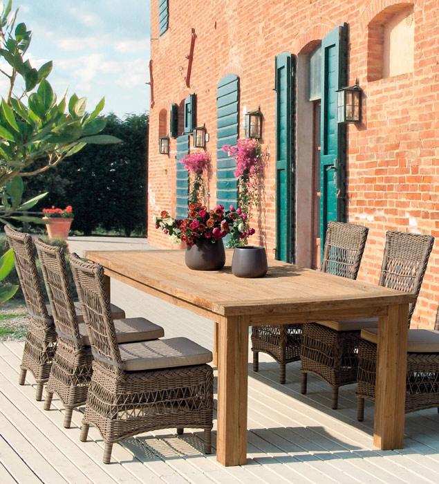 Mesa en madera Bounty o sillas Jupiter - Mesa en madera Bounty o sillas Jupiter  para exteriores