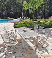 Mesa extensible RETT o sillas C-BR Melania - Mesa extensible RETT o sillas C-BR Melania en madera de Acacia