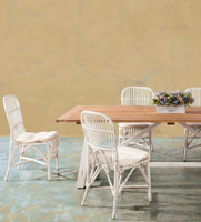 Juego comedor madera rústico - Mesa con elaborado sistema extensible