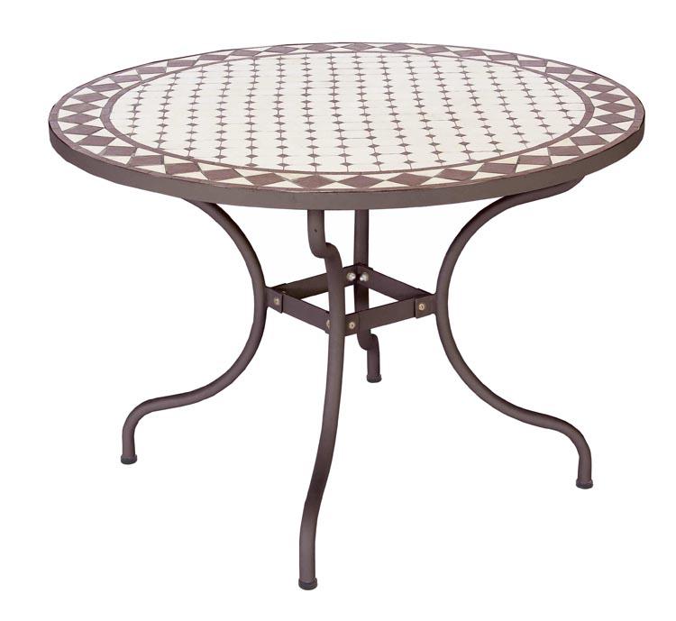 Comedor de hierro mesa varios tama os for Comedor de jardin con sombrilla