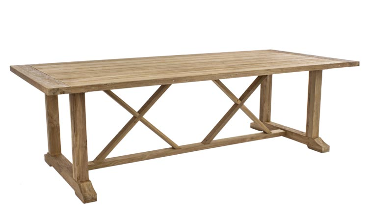 Mesa comedor madera teca reciclada for Mesas rusticas comedor