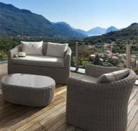 Sofá sillones y mesa centropara exteriores 5 - Estructura de aluminio tejido polirattan