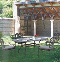 Comedor con mesa de mosaico cerámica 3 - Estructura de aluminio