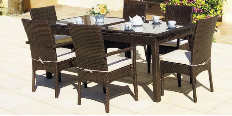 Mesa comedor hierro aluminio for Mesa rectangular extensible
