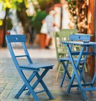 Conjunto mesita y dos sillas madera Acacia exteriores - Disponible en 4 colores