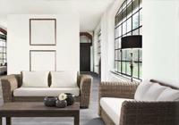 Conjunto salon Sofás y mesa centro 3 - Sofás de tejido, mesa diseño rústico