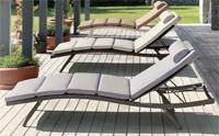 Cama de exteriores en varios colores - Estructura de aluminio tejido polirattan