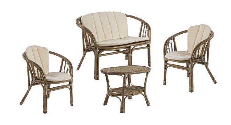 Conjunto muebles salon rattan natural - Poltrone in vimini da esterno ...