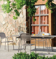 Comedor con estructura de hierro para jardín 4 - Mesa extensible