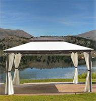 Toldo con estructura de hierro galvanizado - Disponible en 2 tamaños de 3 y 4 metros