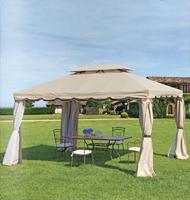 Toldo con estructura aluminio color arena - Disponible en tamaño de 3 y  4m