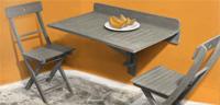 Mesa de pared con cierre madera Acacia - Disponible en dos colores
