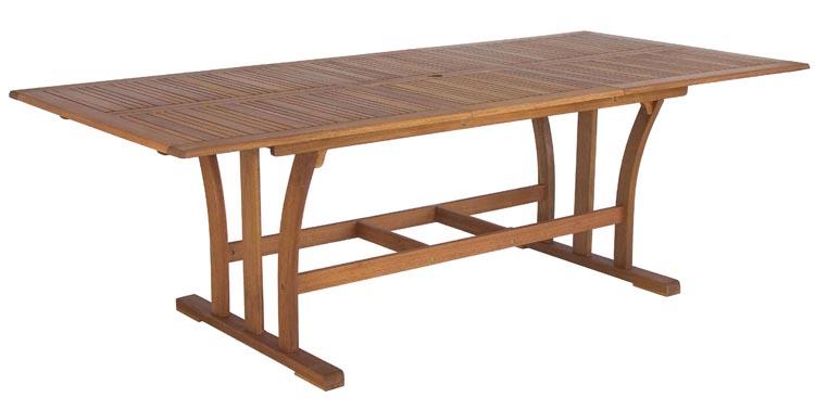 Mesa de comedor extensible exteriores 3 tamaños - Madera de Eucalipto FSC  100%