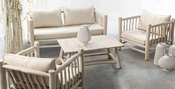 Conjunto muebles mesas madera teca for Muebles madera teca