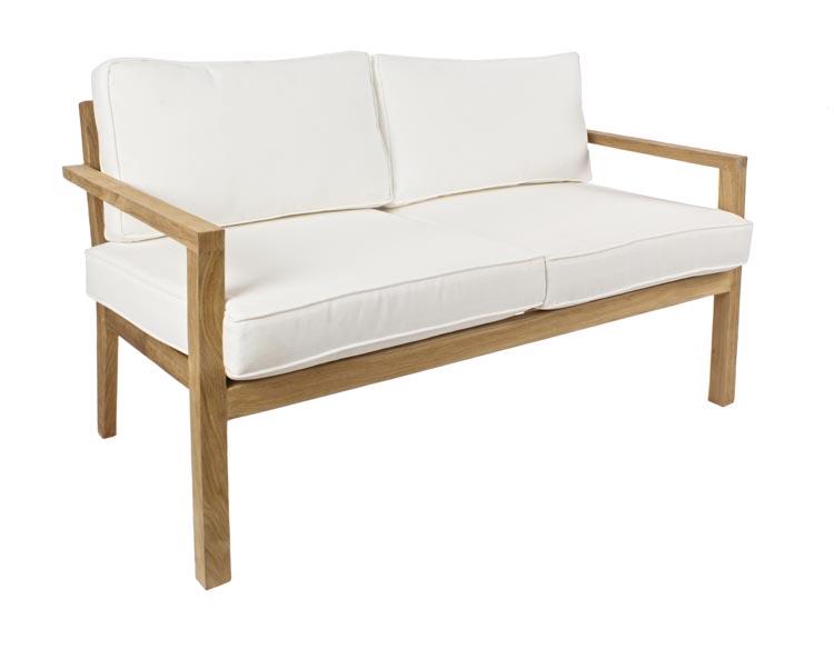 Sof sillones y mesa de centro de teca exteriores for Sofa terraza madera