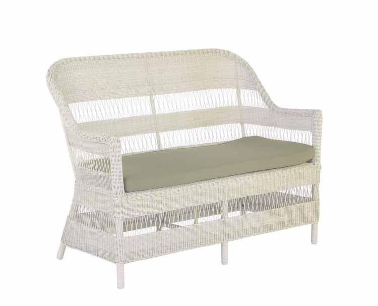 Sofá sillones y mesa baja de rattan para exteriores 2 - Estructura de aluminio
