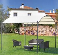 Toldo con estructura de hierro galvanizado 4 - Con techo en forma arqueada