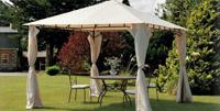 Toldo cuadrado con estructura de hierro galvanizado 3 - También en varias medidas, con o sin cortinas