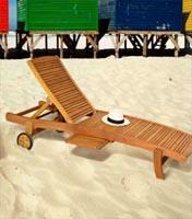 Cama jardín de madera Eucalipto - Diseño semi rústico con ruedas