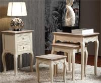 Mesas auxiliares blanco viejo - Mesas auxiliares blanco viejo Mesas nido y mesa telefonera