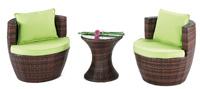 Set de mesa, sillones y cojines modelo BRISOL - Set de sillones, mesa y cojines modelo BRISOL