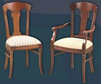 Silla y sillón clásicos 15 - Madera maciza alta calidad