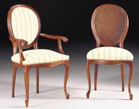 Silla y sillón clásicos 3 - Madera maciza alta calidad