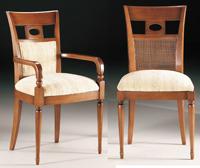 Silla y sillón clásicos 18 - Madera maciza alta calidad
