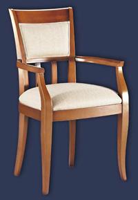 Silla y sillón clásicos 25 - Madera maciza alta calidad