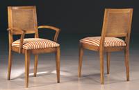 Silla y sillón clásicos 21 - Madera maciza alta calidad