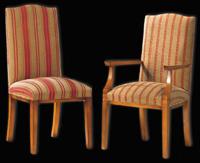 Silla y sillón clásicos 23 - Madera maciza alta calidad