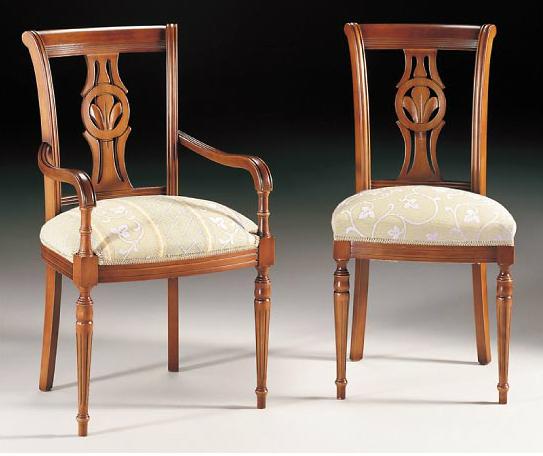 Sillas y sillones de madera cl sicos for Sillas de cocina con brazos