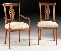 Silla y sillón clásicos 4 - Madera maciza alta calidad