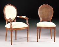Silla y sillón clásicos 1 - Madera maciza alta calidad