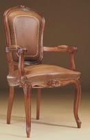 Silla y sillón clásicos 6 - Madera maciza alta calidad